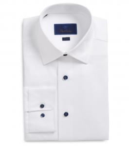 Trim Fit Solid Dress Shirt