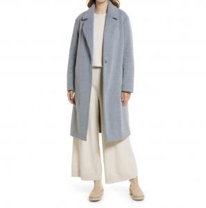 Women's Notch Collar Textured Coat
