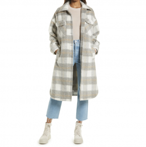 Long Wool Shirt Jacket