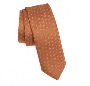 Neat Silk Skinny Tie