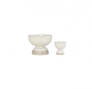 Footed Speckled Vase