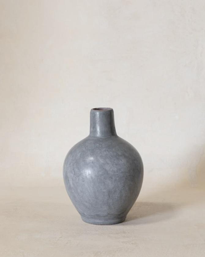 Vintage Blue Slimneck Vase