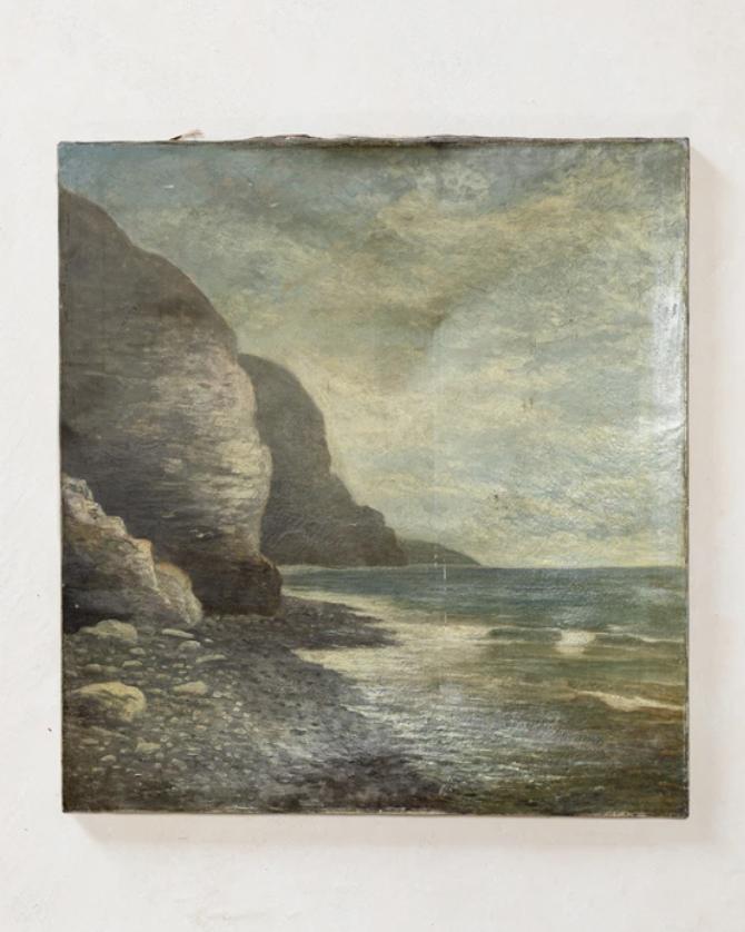 Vintage Shoreline Painting