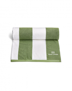 House Stripe Pool Towel