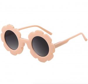 Kids Sunglasses Round Flower UV400 Protection