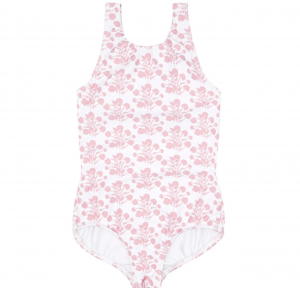 Girls Shell Blossom Double Bow One Piece