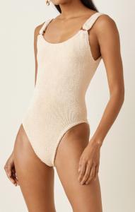 Domino Seersucker Swimsuit