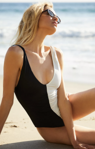 Solid & Striped Lucia Ruched One-Piece Swimsuit