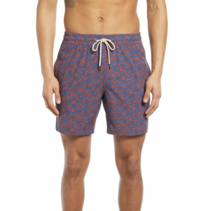 The Bayberry Floral Swim Trunks