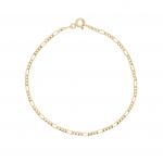14K Gold Thin Figaro Chain Bracelet