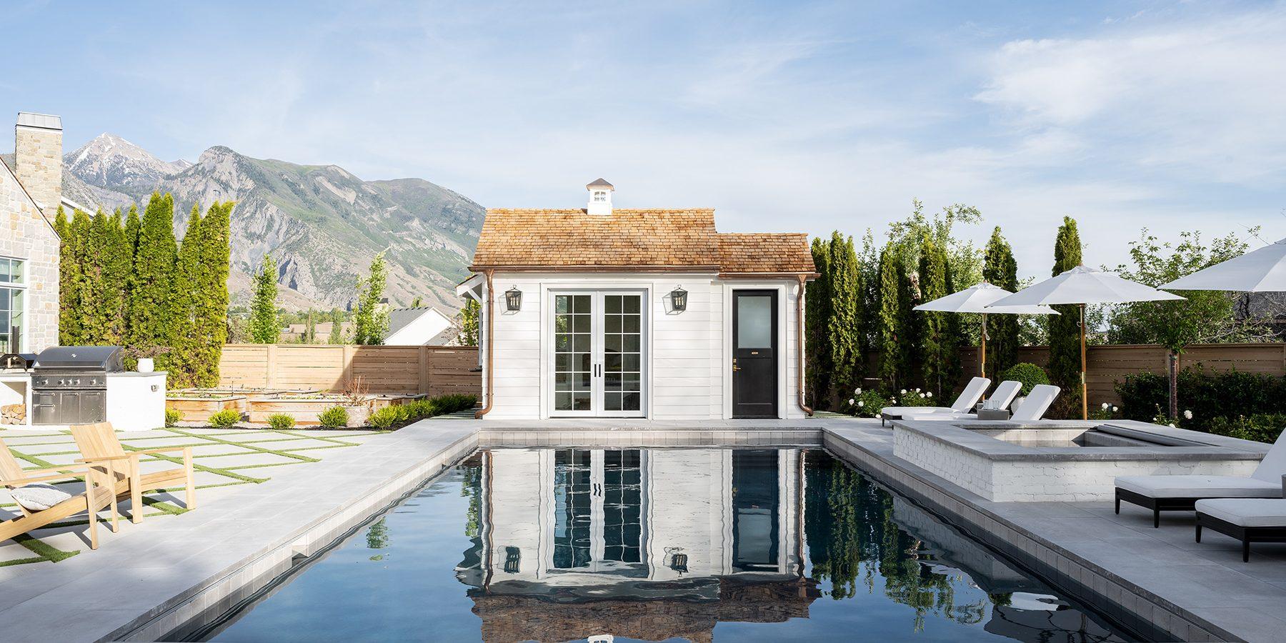 The McGee Home: Pool & Pool House