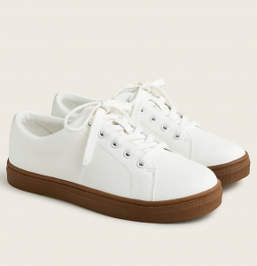 Kids' Court Sneakers in Faux Leather
