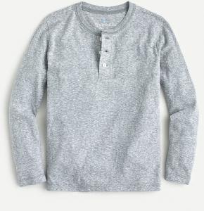 Boys' Long-Sleeve Henley T-Shirt