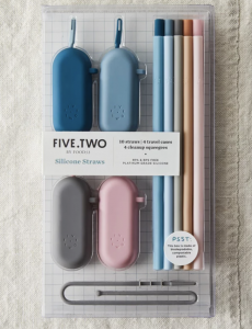 Pack of 10 Silicone Straws & Travel Cases