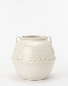 Rounded White Vase