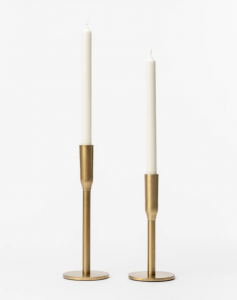 Simple Brass Taper Candle Holder