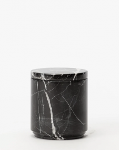 Marquina Marble Canister