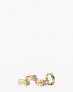 Botanical Brass Napkin Ring (Set of 4)