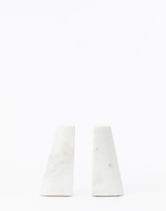 Tapered Marble Bookends (Set of 2)