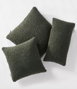 Boucle Throw Pillow with Exposed Zipper