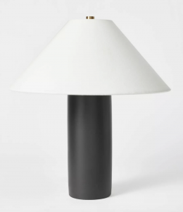Column Table Lamp (Includes LED Light Bulb) Black