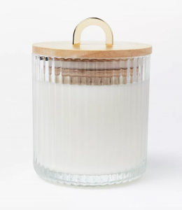 Glass Jar Masala Rose Candle