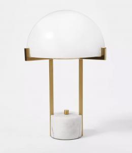 Milk Glass Dome Task Table Lamp White