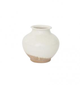 White Washed Ceramic Pot