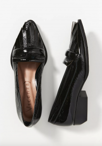 Patent Pointed-Toe Loafers