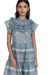 Margot Border Tiered Dress