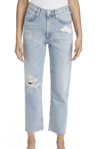 Daphne Crop High Rise Stovepipe Jeans
