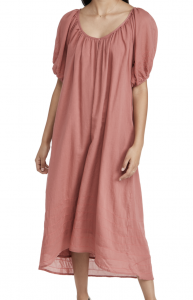 Bubble Sleeve Maxi Dress