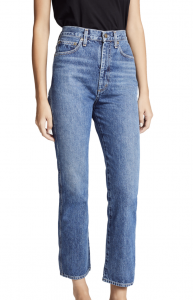 Pinch Waist High Rise Kick Jeans