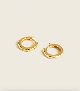 Demi-Fine 14k Gold-Plated Mini Hoop Earrings