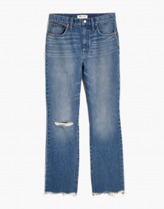 Slim Demi-Boot Jeans in Danville Wash: Ripped Edition