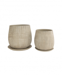 Lined Ceramic Pot