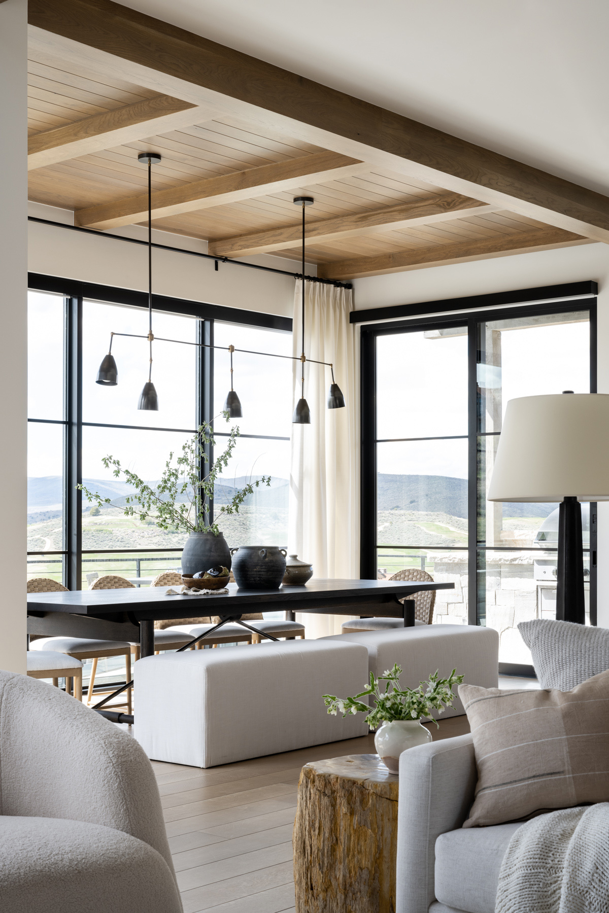 Mountainside Retreat: The Entry & Great Room