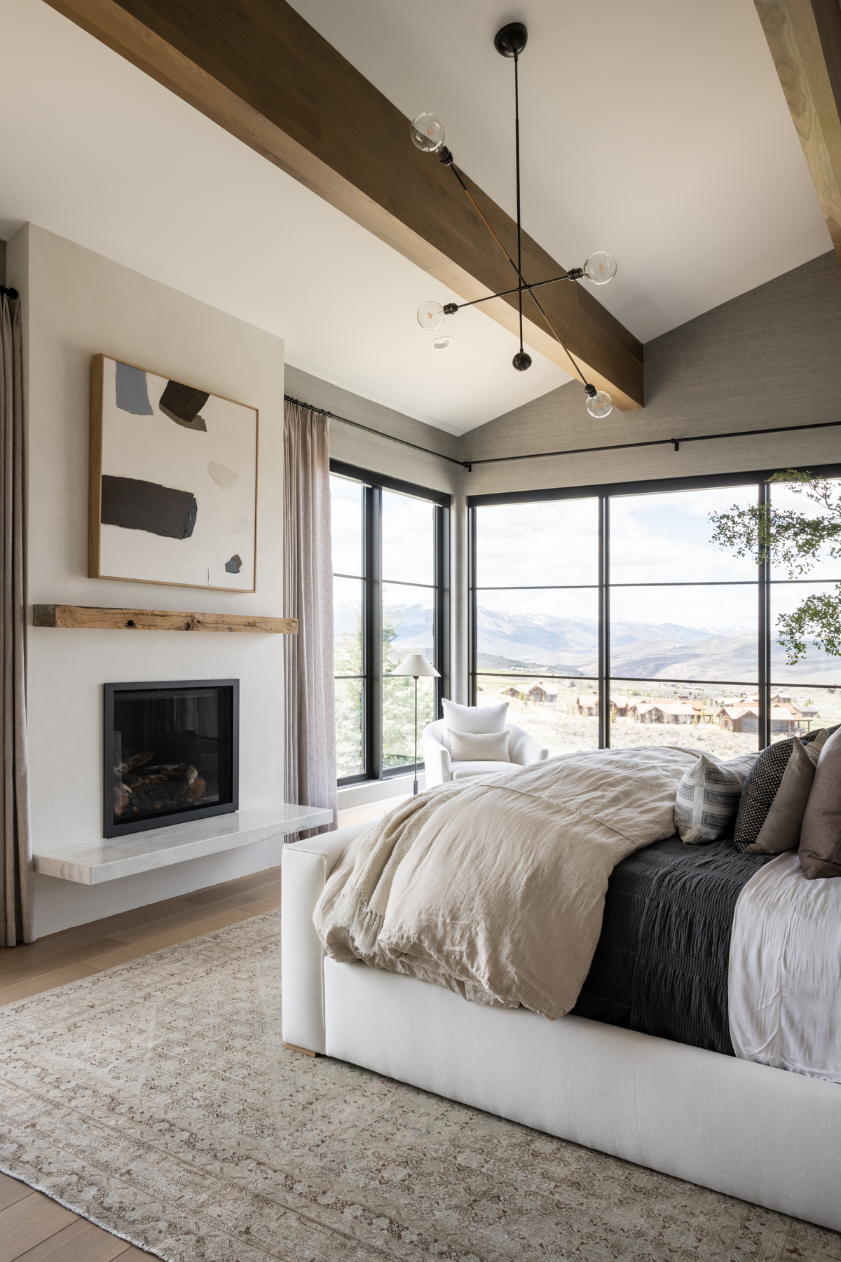 Mountainside Retreat: The Primary Bed + Bath