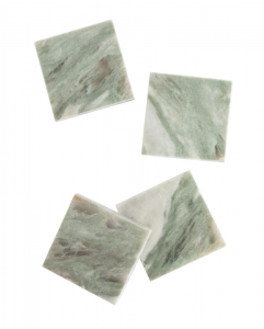 Square Marble Coasters (Set of 4)