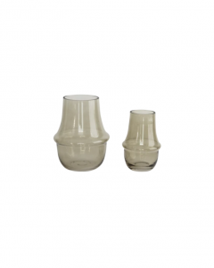 Taupe Glass Vase