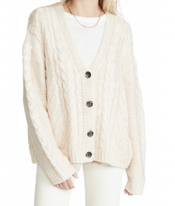 Mixed Cable Cardigan