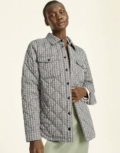 Quilted Puffer Shirt-Jacket with PrimaLoft® in Plaid