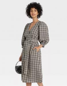 Women's 3/4 Sleeve Wrap Dress