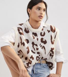 Spotted Knit Vest
