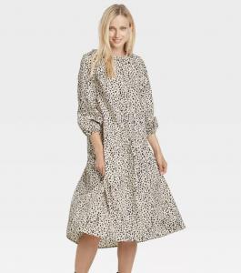 Women's Raglan Long Sleeve High Low Dress