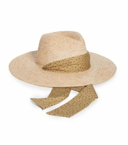 Leopard Trim Straw Hat