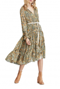 Feeling Groovy Long Sleeve Midi Dress