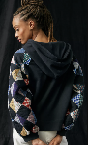 Quilted Patchwork Hoodie