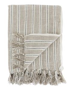 Neutral Stripe Throw