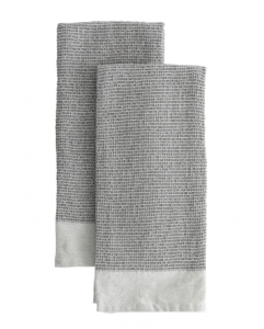 Gray Woven Hand Towel (Set of 2)